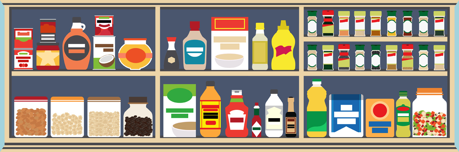 Fridge clipart food shelf. How to stock a