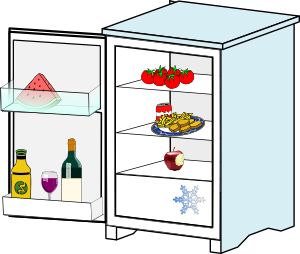 Refrigerator clipart man. Free dirty fridge cliparts