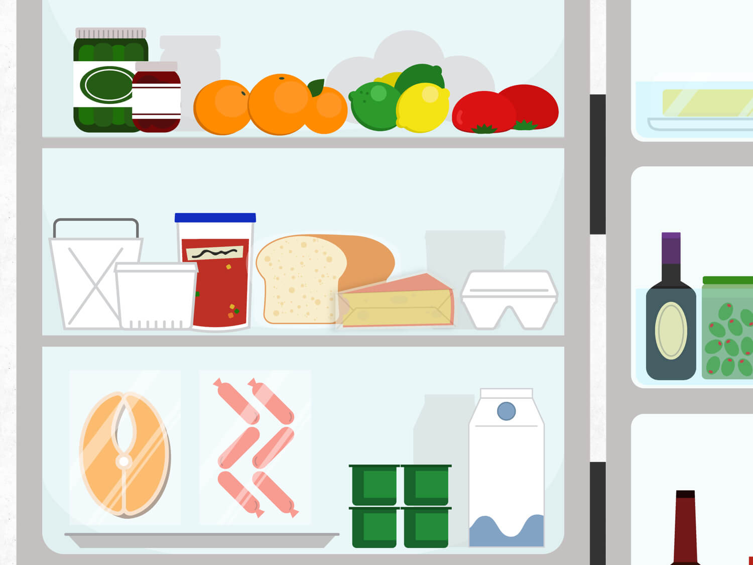 Fridge clipart food shelf. How to organize your