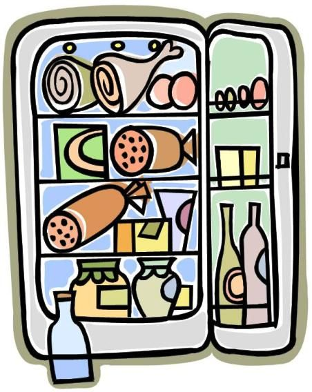 Fridge clipart food shelf. Storage life guidelines for