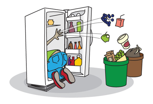 Refrigerator clipart. Dirty fridge