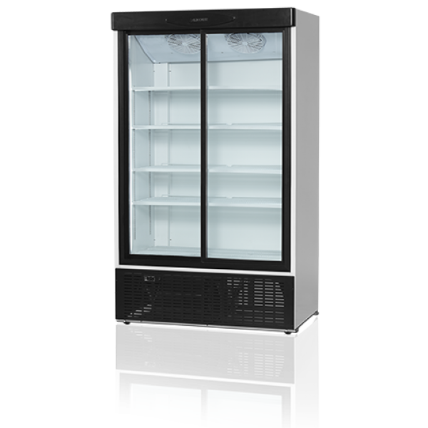 Transparent refrigerator clear door. Tefcold fs s double