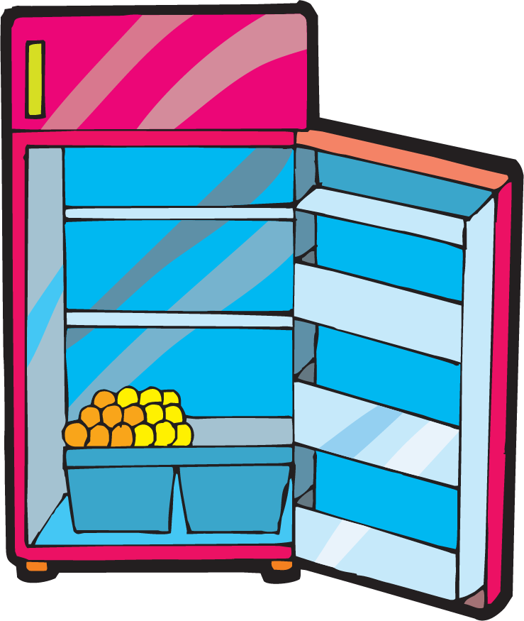 Fridge vector art. Clipart door clip arts