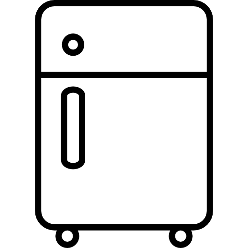 Fridge vector art. Refrigerator outline icons free