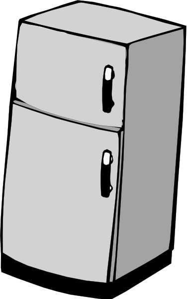 Fridge vector clipart.
