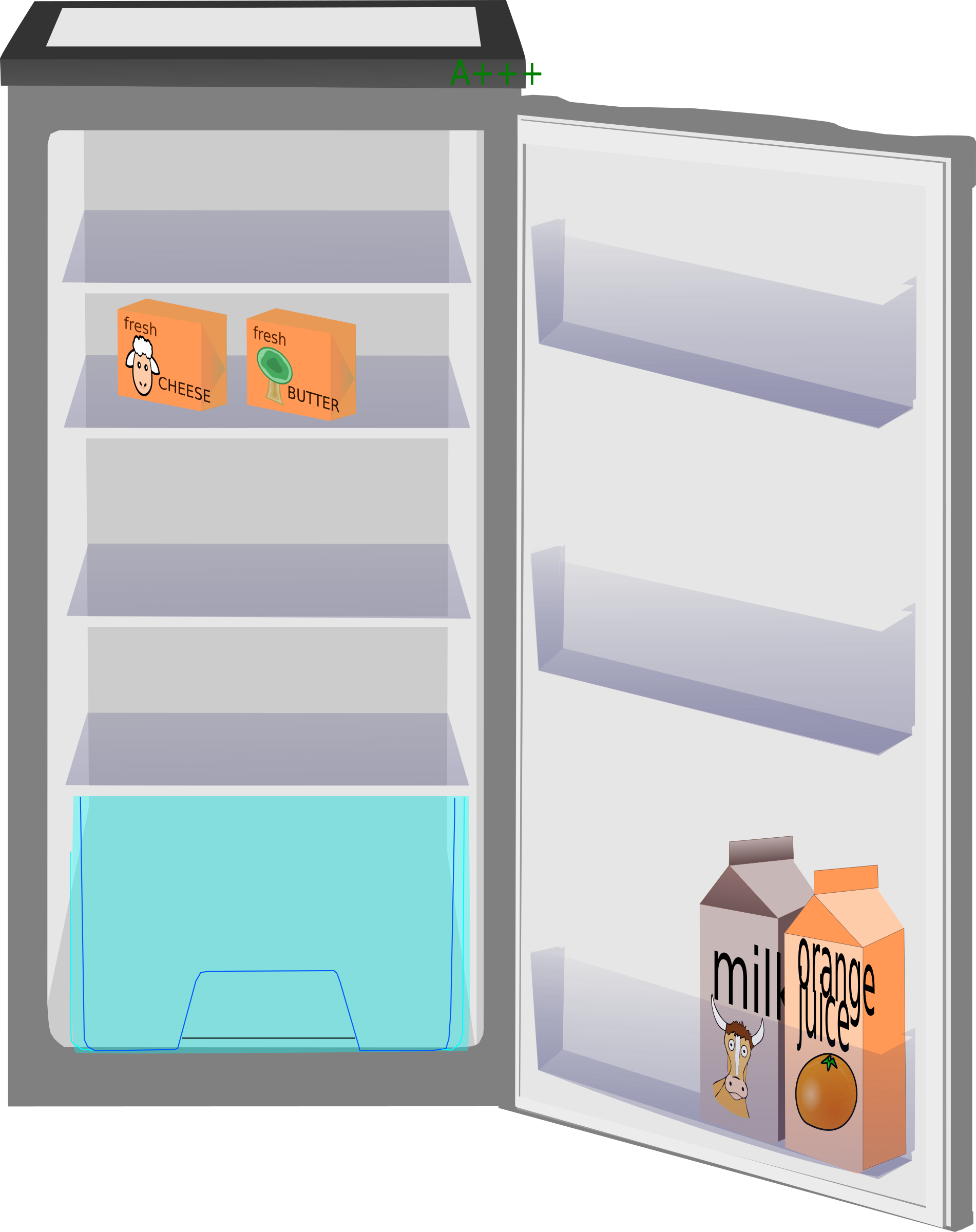 Fridge vector food inside. Clipart pencil and in