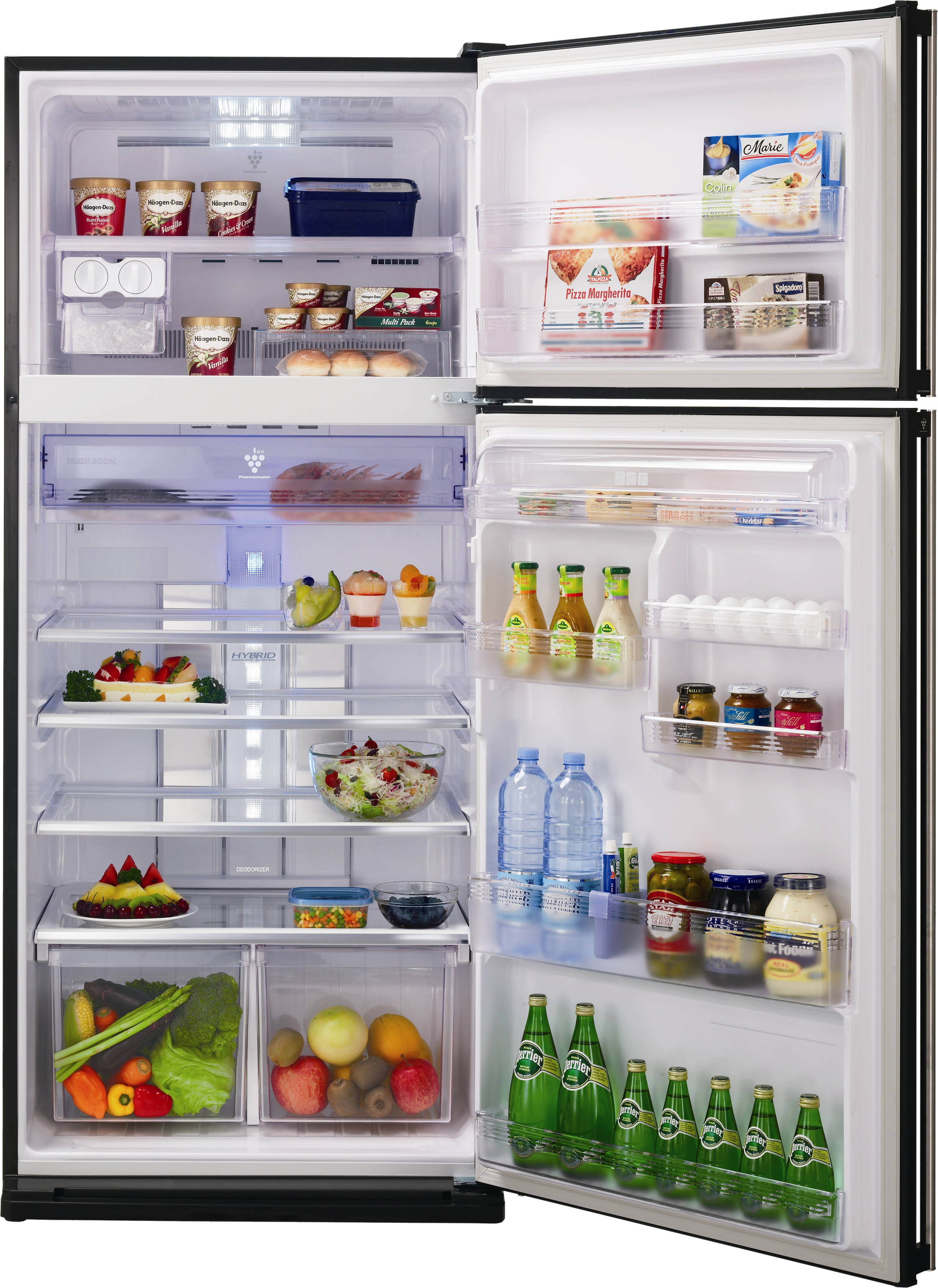 Fridge vector food inside. Picture royalty free