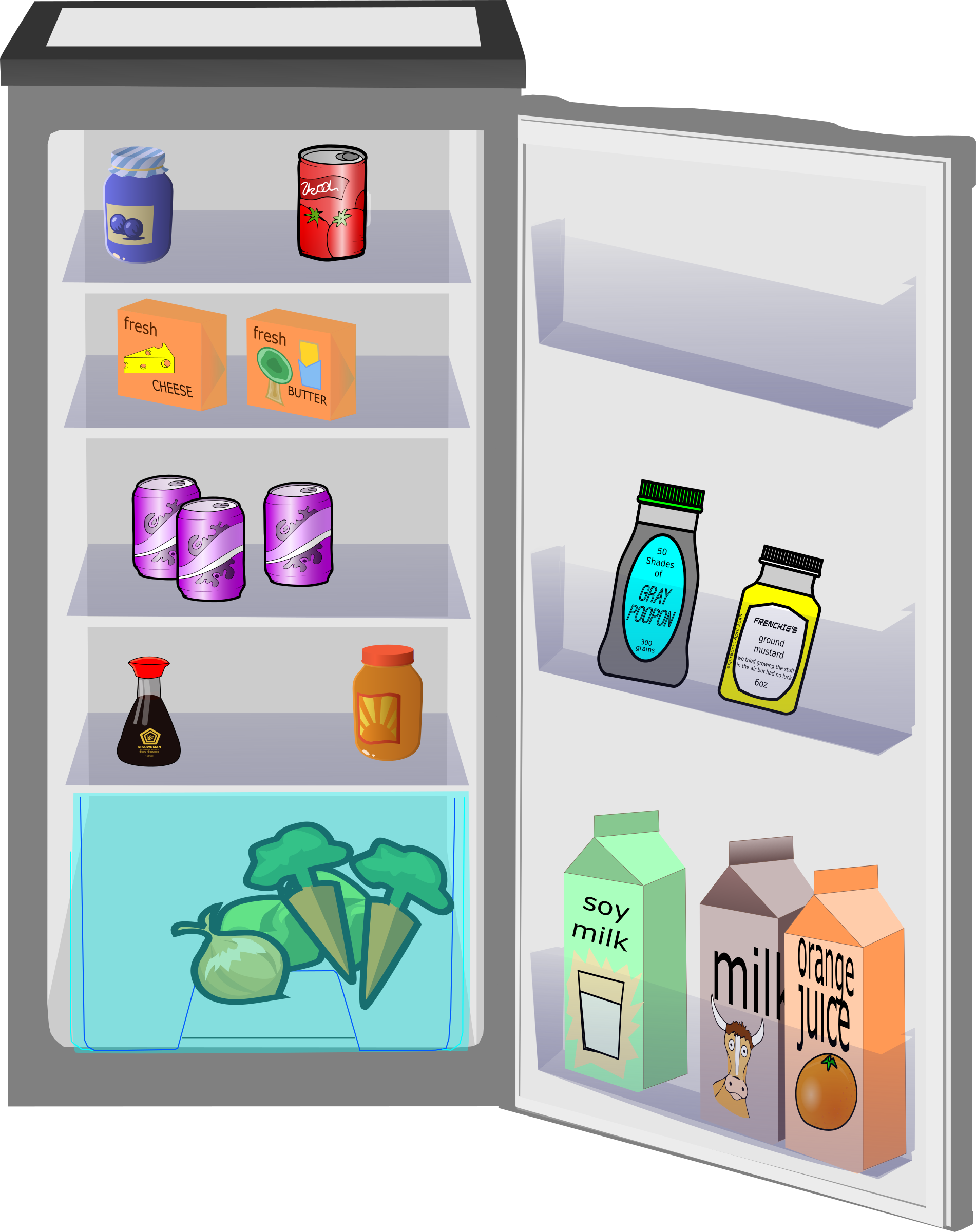 Large clip fridge. Picture royalty free
