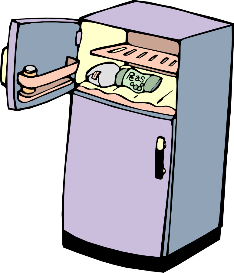 Fridge vector refrigerator. Picture royalty free