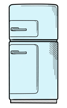 fridge vector classic