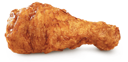 Fried chicken png. Single transparent stickpng
