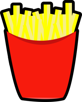 Chips png clipart. French fries cuisine cartoon