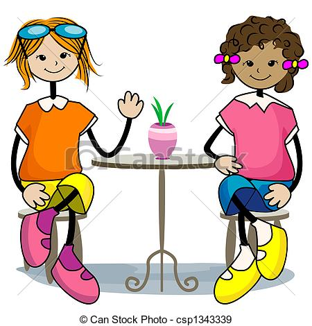 Friends csp. Hanging out with clipart graphic library download