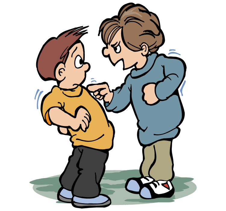 Bullying clipart cartoon character. Free person talking download