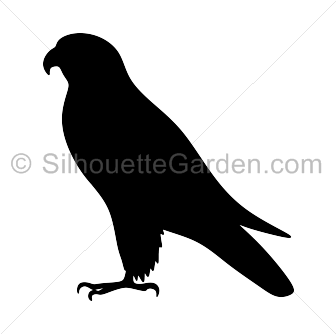 Friendly clipart falcon. Silhouette clip art download