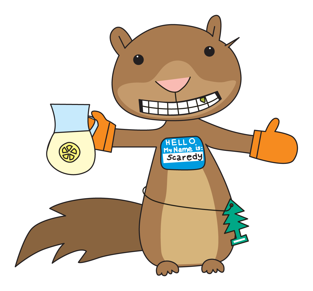 Squirrel clipart thanksgiving. Free scaredy cliparts download