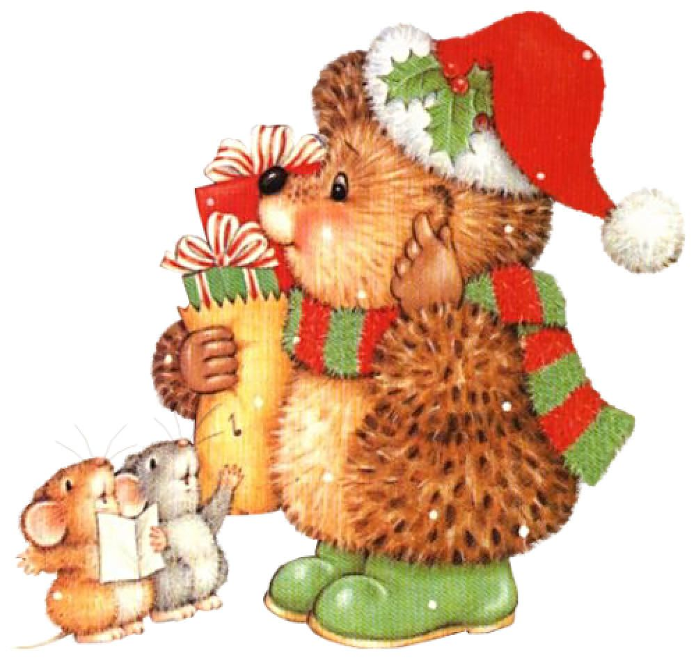 Hedgehog clipart christmas. Ed friends card making