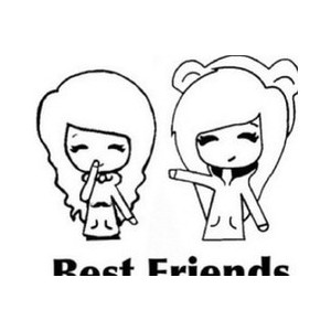 Friends clipart easy. Drawing for best at