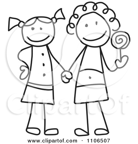 Friends clipart easy. Two best drawing at