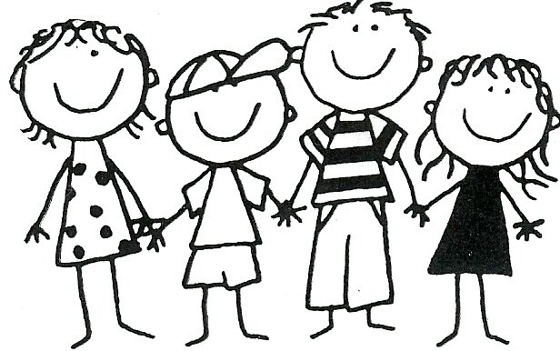 Friends group of students. Friendship clipart black and white svg transparent download