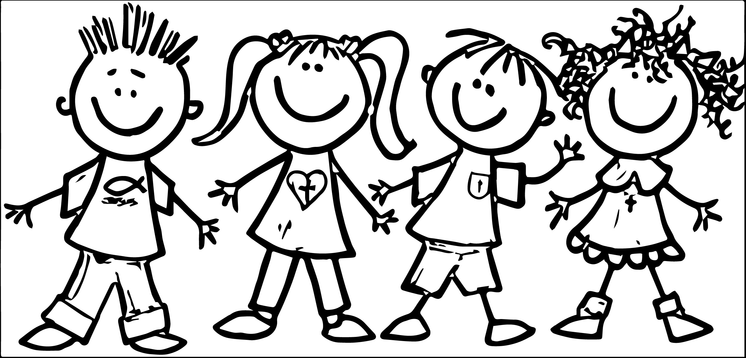 New friends design digital. Friendship clipart black and white clip art royalty free download