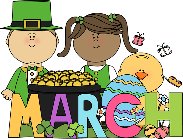 Friendship clipart month. Of march clip art