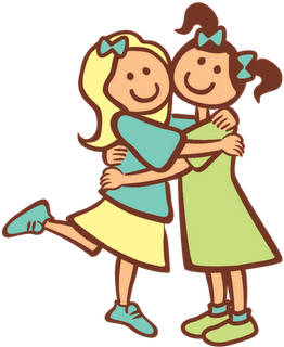 Sisters hugging . Sister clipart one sister banner transparent library