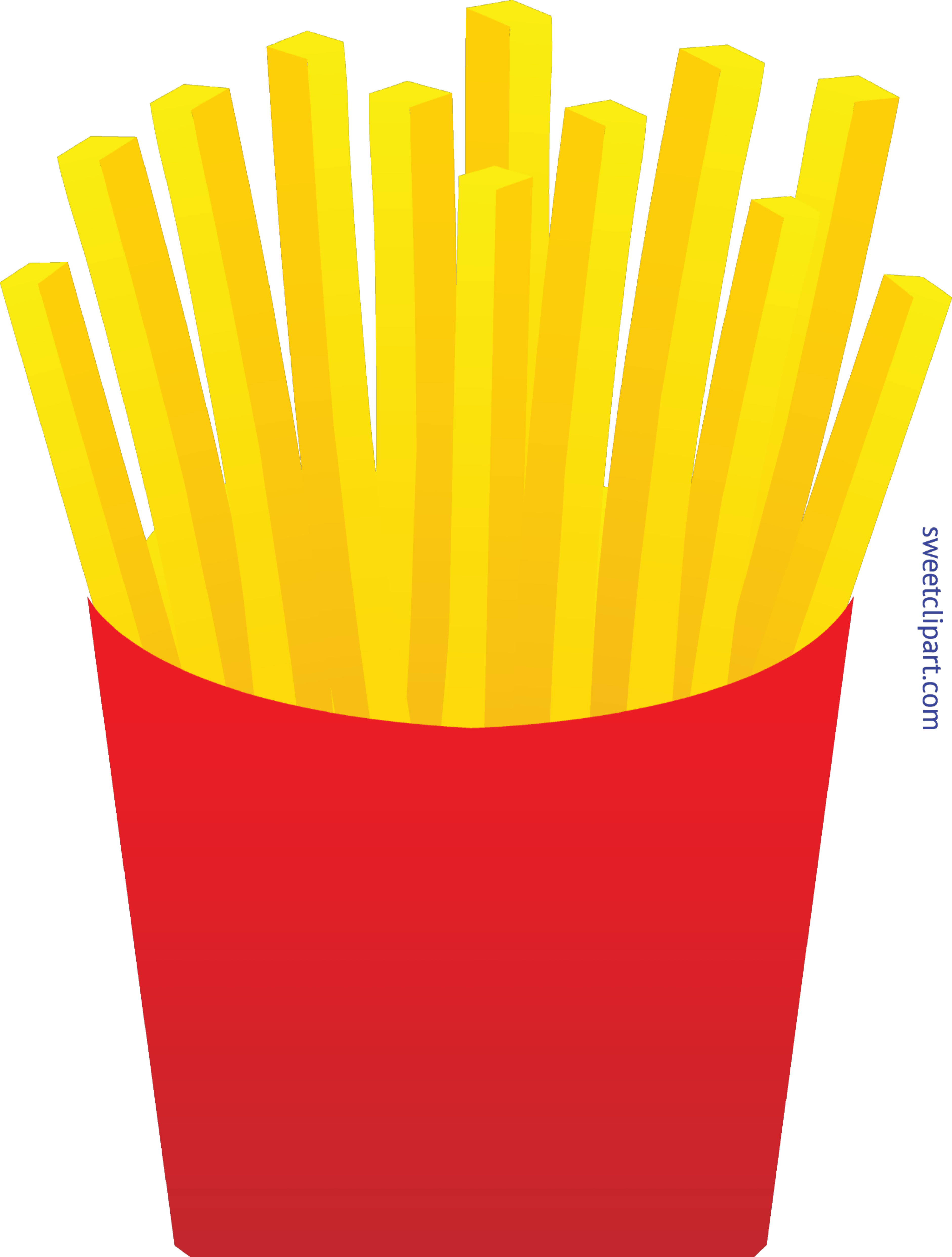 Fries clipart. French clip art sweet