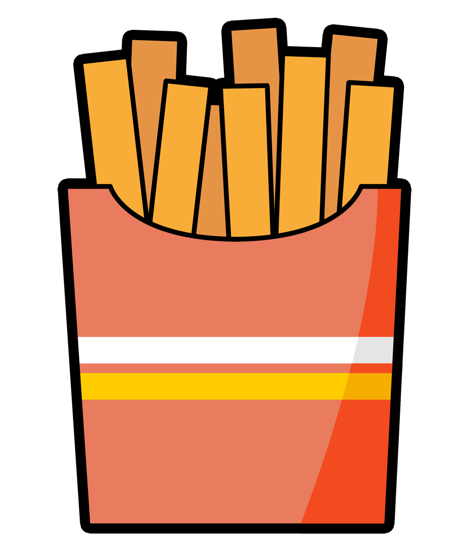 Fries vector carton. Free to use public