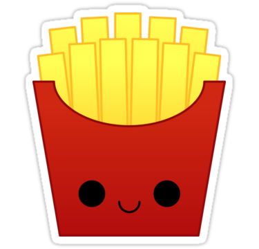 Fries clipart kawaii. French stickers by kittybox