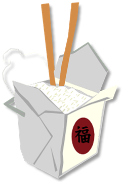 Food to go we. Chinese clipart takeout chinese banner transparent