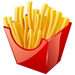 Fries vector fried food. Png images free download