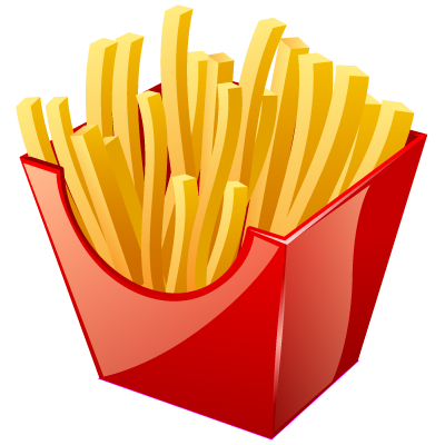 Fries vector. French real vista px