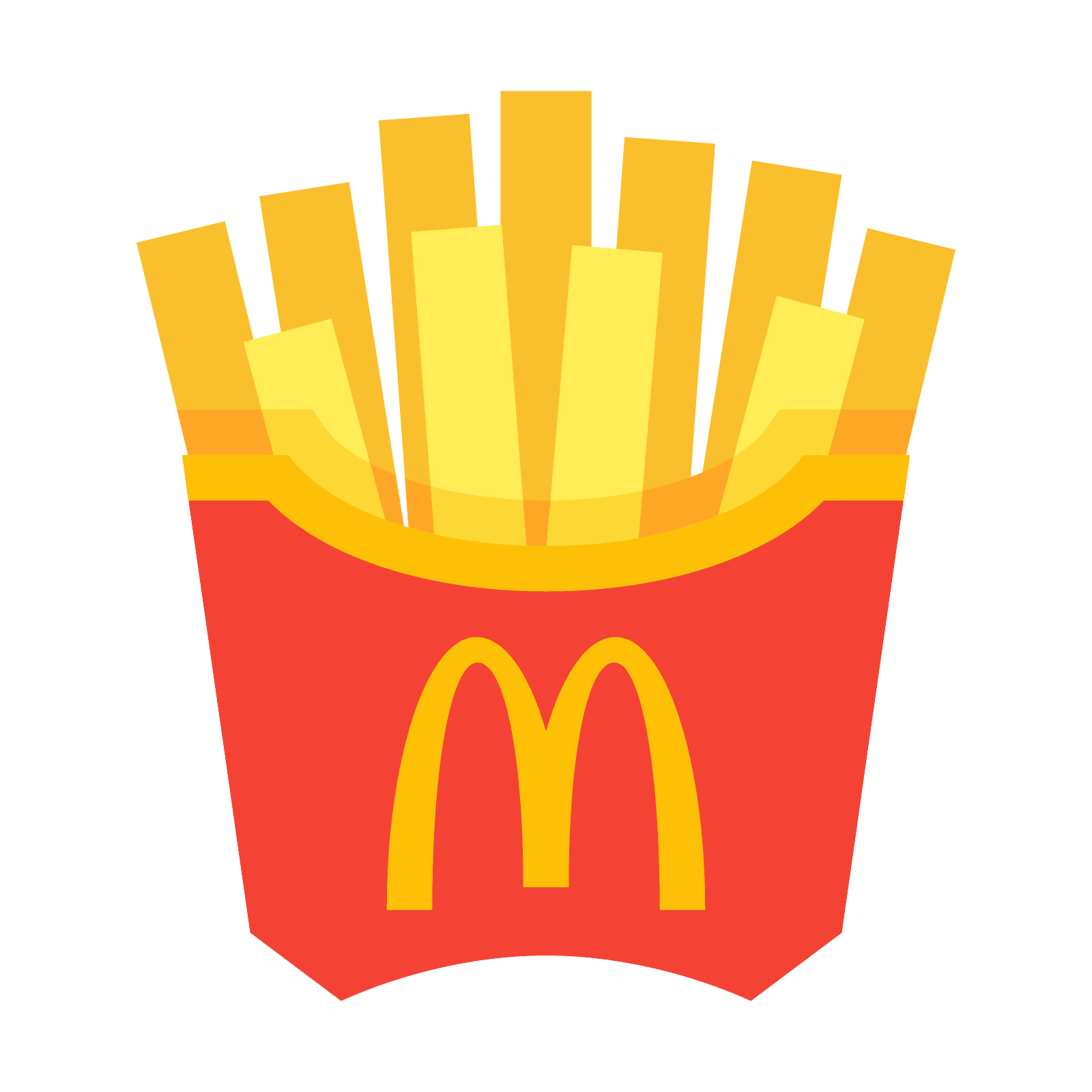 Fries vector. Mcdonald s french icon