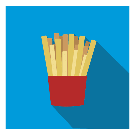 Fries vector regular. French square icon transparent