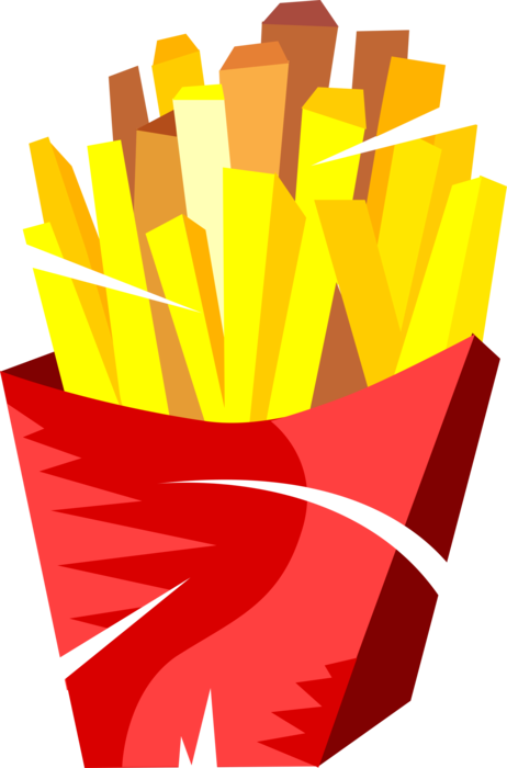 Fries vector. French image illustration of