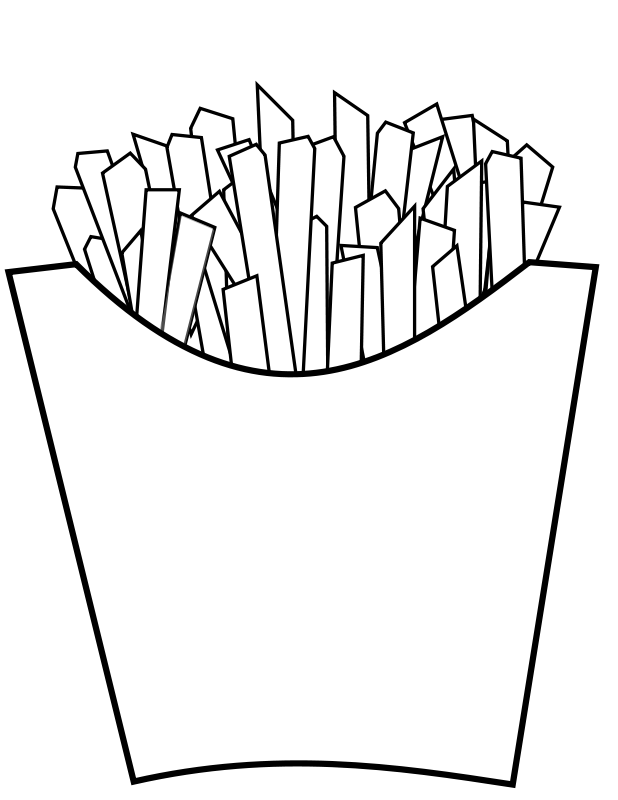Fries vector french fry. Free images of download