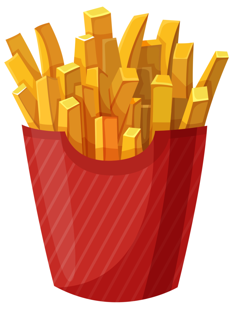 Fries vector background. Download free png image