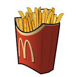 Fries vector chip. Picture black and white
