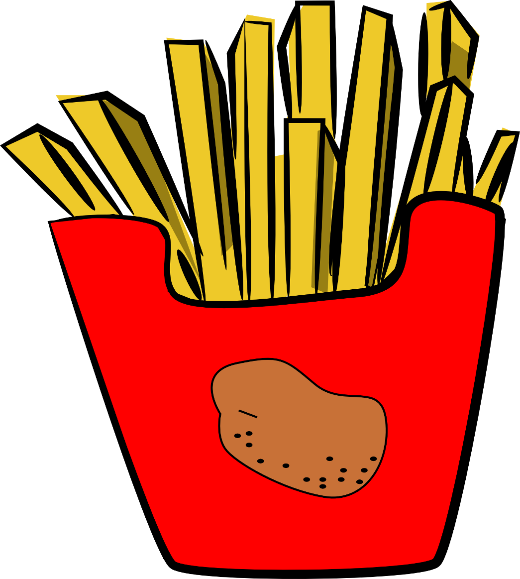 Fries vector cute. Clipart pencil and in