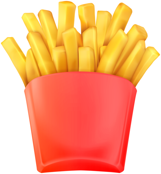 Fries vector fried food. Clip art clipart photo