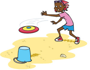 frisbee clipart frisbee game