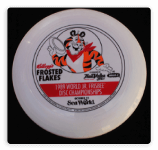 Frisbee vector flying saucer. History of the quality