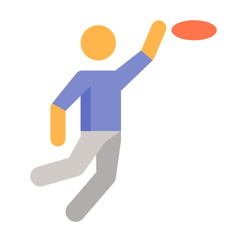 Frisbee vector discus. Icons