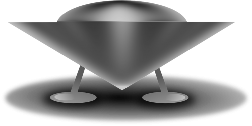 Vector ufo flying saucer. Free photos disc search