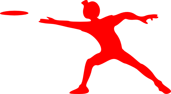 Frisbee vector red. Clip art at clker