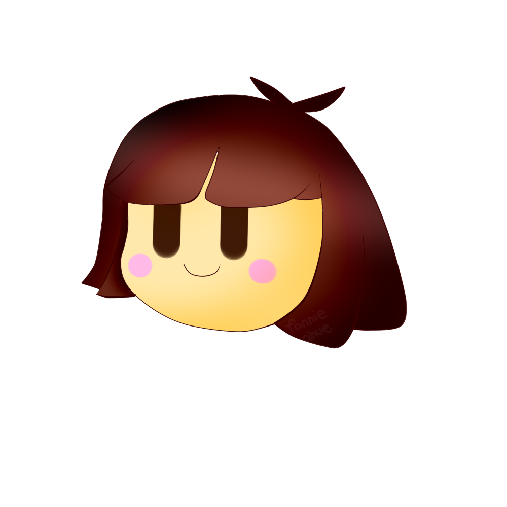 Frisk head png. Have this floating chara