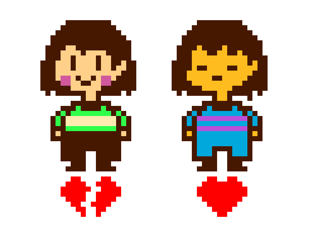 Frisk undertale png. Chara and pixel art