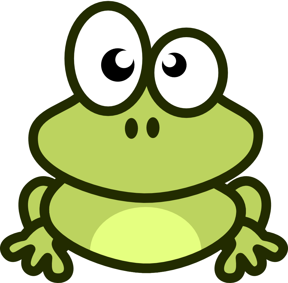 Frogs clipart green frog. Funny