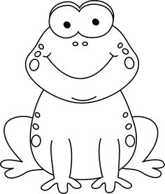 Frog clipart black and white. Cool ideas png clipartxtras